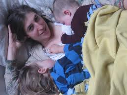 Mayim Bialik and Kids from her new book